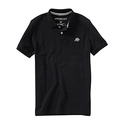 aeropostale mens a87 solid logo pique polo shirt