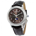Raymond Weil Maestro Automatic Brown Diamond Dial Dark Brown Leather Ladies Watch