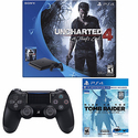 PlayStation 4 Slim 500GB Console Uncharted 4Bundle + PS4 Controller+ Tomb Raider