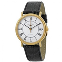 Longines Presence Automatic Black Leather Men's Watch