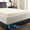 "PuraSleep 3"" Perfect Plush Memory Foam Topper"