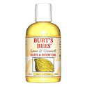 Burt's Bees 100% Natural Lemon and Vitamin E Body and Bath Oil