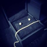1/10 Cttw Diamond Sterling Silver Stud Earrings