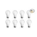 Philips 462150 60 Watt Equivalent Soft White A19 LED Light Bulb 8-Pack