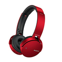 Sony MDRXB650BT/R Extra Bass Bluetooth Headphones - Red