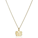 "Dogeared ""Reminders"" New Beginnings Rising Lotus Gold Charm Necklace"