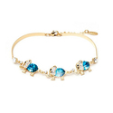 18K Gold Plated Elephant Birthstone Bracelet