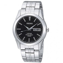 Seiko Sapphire Black Dial Stainless Steel Men's Watch