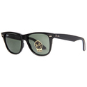 Ray Ban Black Green Wayfarer Unisex Sunglasses