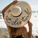 Fashion Culture Women's 'Do Not Disturb' Floppy Sun Hat