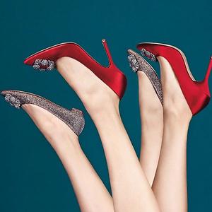 Saks Fifth Avenue: Manolo Blahnik 钻扣最美婚鞋最高立减$250 + 叠加低至6折