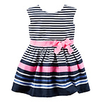 Sateen Striped Dress