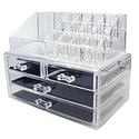 Durable Acrylic Jewelry & Cosmetic Storage Organizer Boxes Two Pieces Set