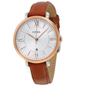 FOSSIL Jacqueline Silver Dial Brown Leather Quartz Ladies Watch