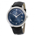 OMEGA De Ville Prestige Automatic Blue Dial Black Leather Men's Watch