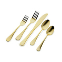 Godinger Doraz Light Gold-Plated Flatware Set (20-Piece)