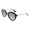 Prada Women's Gradient Black Butterfly Sunglasses