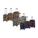 Rivolite Hardside Printed Expandable Luggage Set (3-Piece)