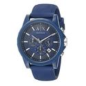 Armani Exchange Men's AX1327 Blue Silicone Watch