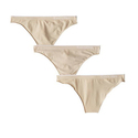 Calvin Klein Women's 3 Pack Seamless Thong Panty
