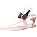 kate spade new york Women's Freda Light Pink Shiny Sandal