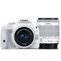 Canon DSLR Camera EOS Kiss X7 (White) with EF-S 18-55mm