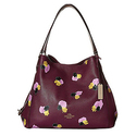 COACH Women's Edie 31 Shoulder Bag LI/Plum/Field Flora Shoulder Bag
