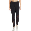 Trina Turk Recreation Women's Geo Knit Solid Inset Top Stitched Full Length Legging