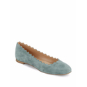 Chloe Lauren Scalloped Suede Flats
