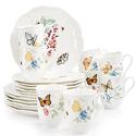 Lenox Butterfly Meadow 18-Piece Dinnerware Set + 2 Bonus Mugs