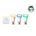 Philips Hue 3rd Generation A19 Starter Kit (Manufacturer refurbished)