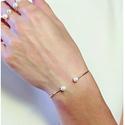 Skagen Agnethe Gold-Tone Pearl Bangle Bracelet