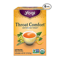 Yogi Teas Throat Comfort 16 Count x 6pk