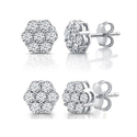 DeCarat 1/2 or 1 CTTW Diamond Composite Stud Earrings from $59.99