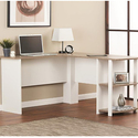Altra Furniture Dakota L-Shaped Desk with Bookshelves