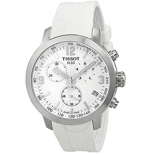 Tissot PRC 200 Chronograph White Dial Men's Watch