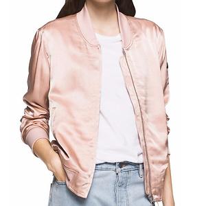 Calvin Klein 粉色飞行员夹克