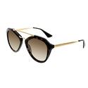 Prada Women's Gradient Tortoiseshell Aviator Sunglasses