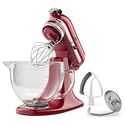 KitchenAid 5 qt. Stand Mixer in Empire Red with Glass Bowl
