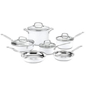 Cuisinart CSMW-10 Chef's Classic Stainless Steel 10-Piece Cookware Set