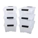 IRIS 12 Quart Stack & Pull Box 6 Pack