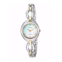 Citizen Eco-Drive Women's Silhouette Crystal Markers Two-Tone Watch