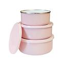 Reston Lloyd 6-Piece Enamel on Steel Bowl/Storage Set - Pink