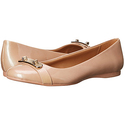COACH Women's Oswald Platinum Irridescent Pearl Patent Shoe