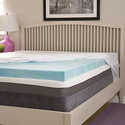 "BeautyRest ComforPedic Loft 2"" NRGel Flat Mattress Topper"