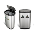 Nine Stars 2-Compartment Trash Can with Motion Sensor