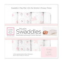 SwaddleDesigns Cotton Muslin Swaddle Blankets Set of 4