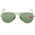 Ray-Ban Aviator Green Polarized Lens Men Sunglasses