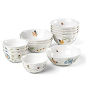 Lenox 880075 Butterfly Meadow 12-Piece Bowl Set, Multicolor