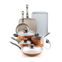 Farberware Copper Cookware Set (17-Piece)
